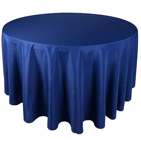 Navy 108 Inch Round Tablecloths