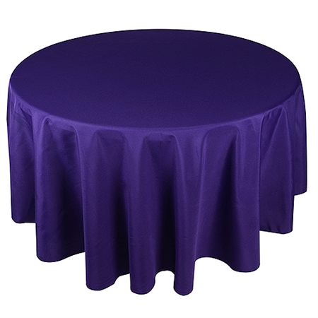 Purple 120 Inch Round Tablecloths