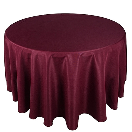 Burgundy 132 Inch Round Tablecloths