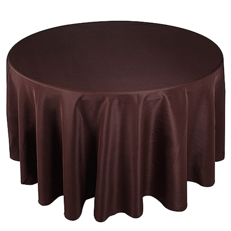 Chocolate Brown 132 Inch Round Tablecloths