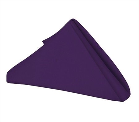 Purple 20 x 20 Polyester Napkins