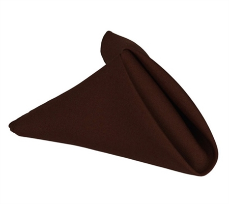 Chocolate Brown 20 x 20 Polyester Napkins