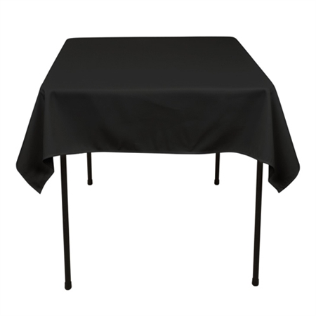 Black 52 x 52 Inch Square Tablecloths