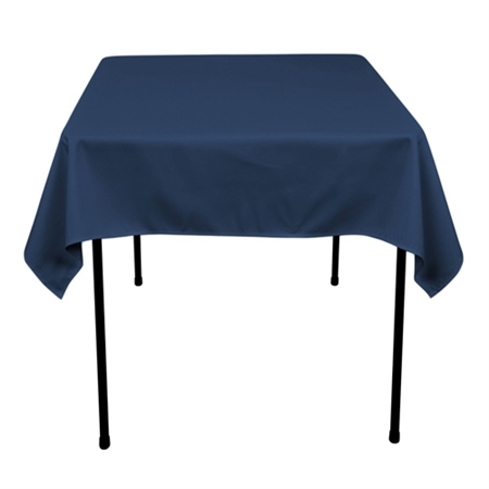 Navy Blue 52 x 52 Inch Square Tablecloths