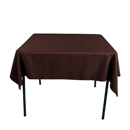 Chocolate Brown 52 x 52 Inch Square Tablecloths