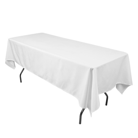 White 60 x 102 Inch Rectangle Tablecloths