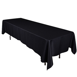 Black 60 x 102 Inch Rectangle Tablecloths