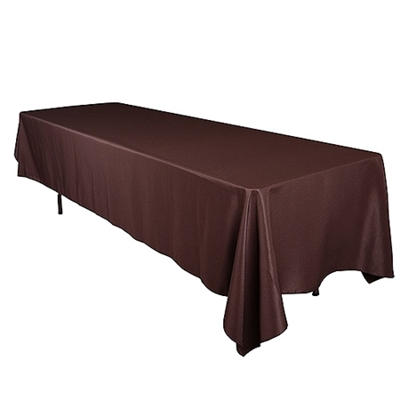 Chocolate Brown 60 x 102 Inch Rectangle Tablecloths