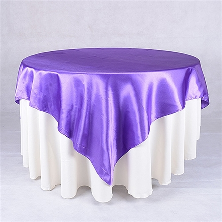 Purple 60 x 60 Inch Square Overlays