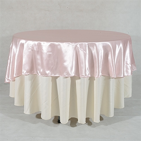 Light Pink 70 Inch Round Overlays