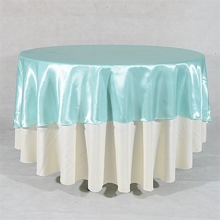 Aqua Blue 70 Inch Round Overlays