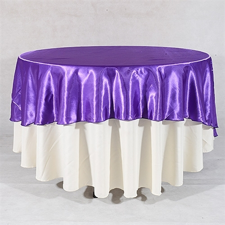 Purple 70 Inch Round Overlays