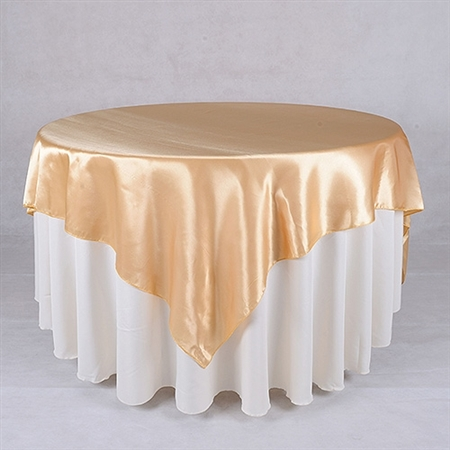 Gold 72 x 72 Inch Square Overlays