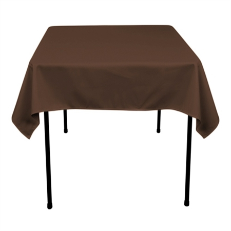 Chocolate Brown 70 x 70 Inch Square Tablecloths