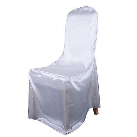 Banquet Chair Cover Satin Chair Cover White