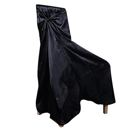 Universal Satin Chair Cover Black