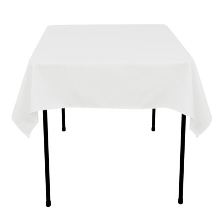 White 85 x 85 Inch Square Tablecloths