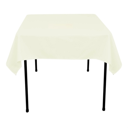 Ivory 85 x 85 Inch Square Tablecloths