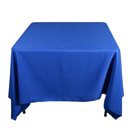 Royal blue 85 x 85 inch square tablecloths for 85 inch tablecloths