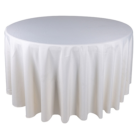 Ivory 90 Inch Round Tablecloths