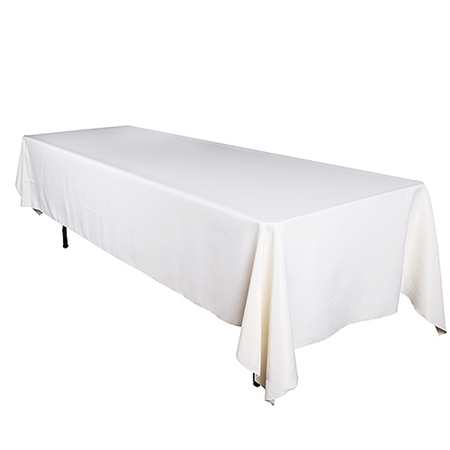Ivory 90 x 132 Inch Premium Polyester Rectangle Tablecloths