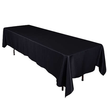 Black 90 x 132 Inch Rectangle Tablecloths