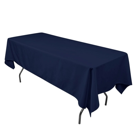 Navy Blue 90 x 132 Inch Rectangle Tablecloths