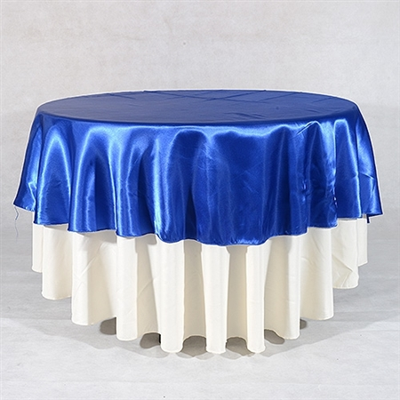 Royal Blue 90 Inch Round Overlays