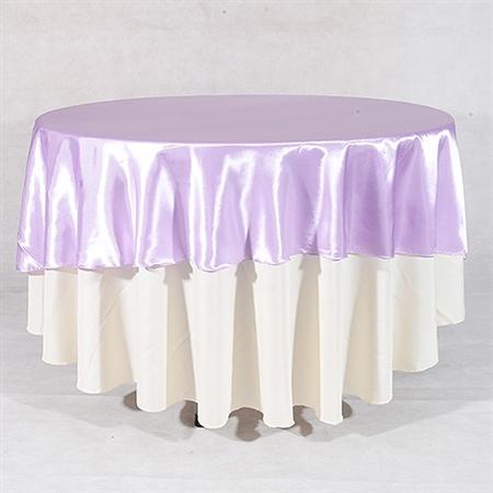 Lavender 90 Inch Round Overlays