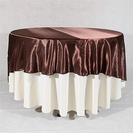 Chocolate Brown 90 Inch Round Overlays