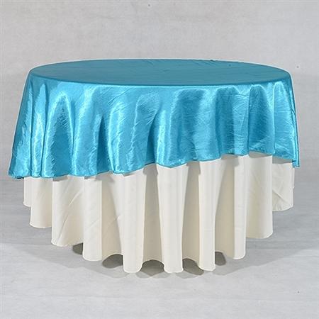 Turquoise 90 Inch Round Overlays