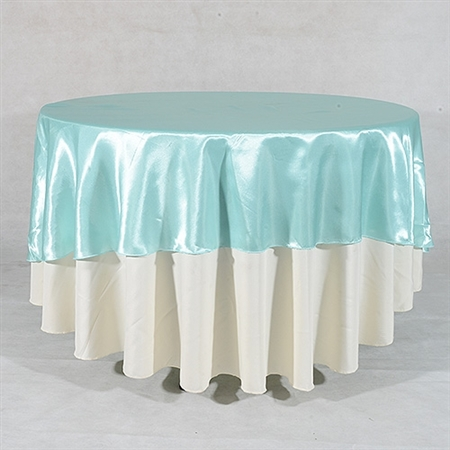 Aqua Blue 90 Inch Round Overlays