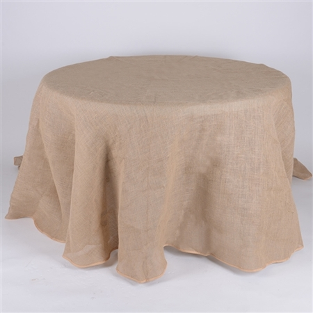 90 Inch Fine Rustic Jute Burlap Round Tablecloths