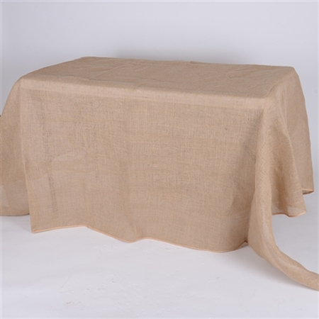 90x156 Inch Fine Rustic Jute Burlap Rectangle Tablecloths