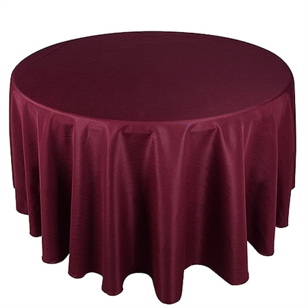 Burgundy 70 Inch Round Tablecloths