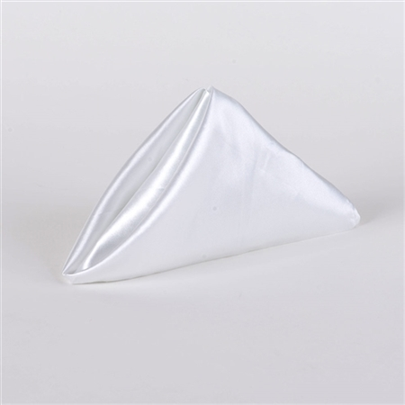 White Satin Napkins 20 Inch x 20 Inch Pack of 5