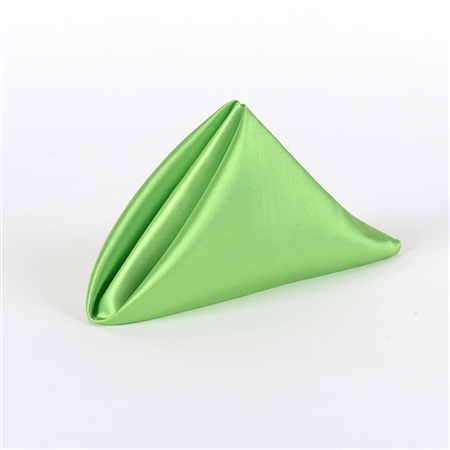 Apple Green Satin Napkins 20 Inch x 20 Inch Pack of 5
