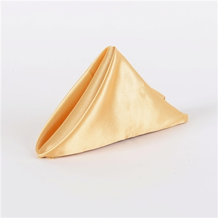 Gold Satin Napkins 20 Inch x 20 Inch Pack of 5