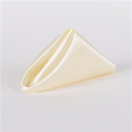 Ivory Satin Napkins 20 Inch x 20 Inch Pack of 5