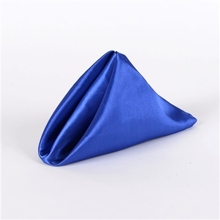 Royal Blue Satin Napkins 20 Inch x 20 Inch Pack of 5