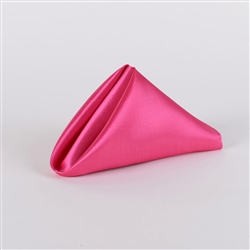 Fuchsia Satin Napkins 20 Inch x 20 Inch Pack of 5