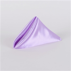 Lavender Satin Napkins 20 Inch x 20 Inch Pack of 5