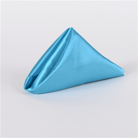 Turquoise Satin Napkins 20 Inch x 20 Inch Pack of 5