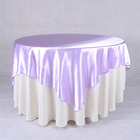 Lavender 90 Inch x 90 Inch Square Satin Overlays