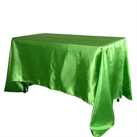 Apple Green 60 Inch x 102 Inch Rectangular Satin Tablecloths