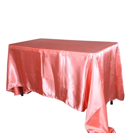 Coral 60 x 126 Inch Rectangular Tablecloths