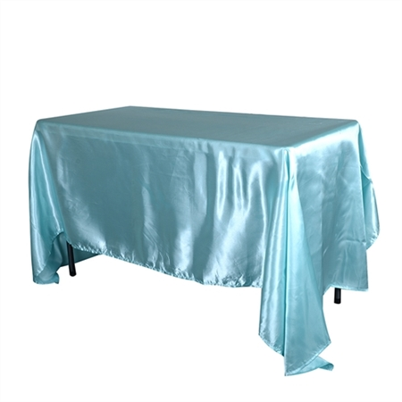 Aqua Blue 90 x 132 Inch Rectangular Tablecloths