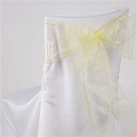 Baby Maize Organza Chair Sash 10 Pieces