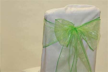Mint Organza Chair Sash 10 Pieces