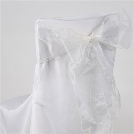 Ivory Organza Chair Sash 10 Pieces